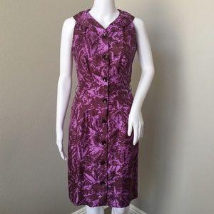 Milly Vintage Inspired Silk Sheath Dress